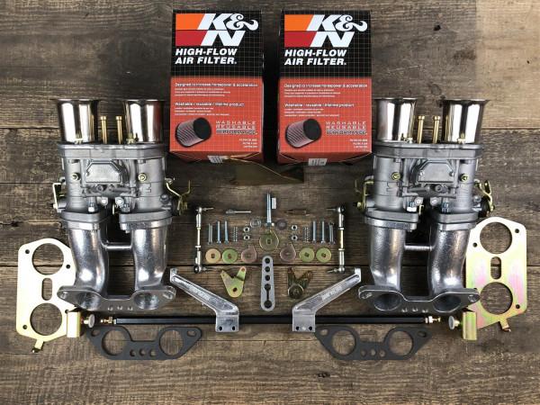 WEBER 2x 44 IDF K&N Luftfilter Porsche 914 VW BusTyp 4 Mot. Doppelvergaseranlage