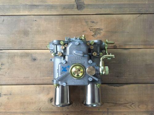 45 DCOE 152 Original Weber Doppelvergaser mit Einlauftrichter Alfa Romeo etc.