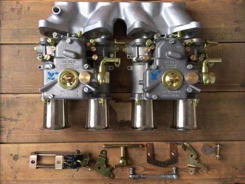 WEBER 2x 45 DCOE 152 VW Golf 8V Doppelvergaseranlage + Einlauftrichtern