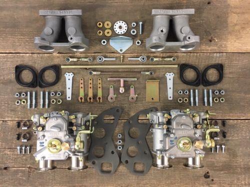 WEBER 40 DCOE für Triumph TR3 TR4 Morgan Doppelvergaseranlage