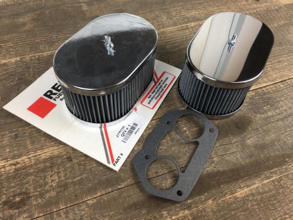 2x Luftfilter für WEBER 36, 40, 44, 48 IDF Vergaser Höhe 85mm Sportluftfilter