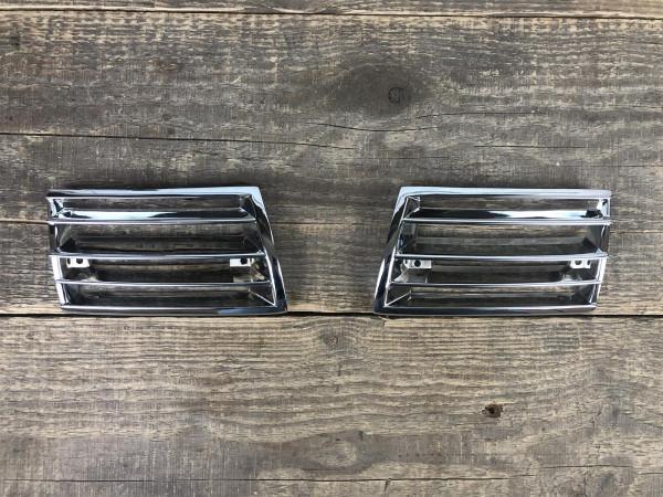 JP Metal Chrom Gitter vorne Satz rechts links Horngitter Hupengitter Porsche 911