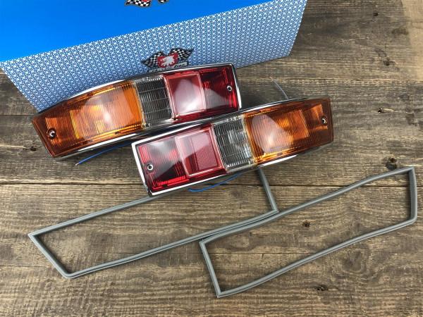 JP Rückleuchten SET Heckleuchte links + rechts gelb/klar/rot Porsche 911 912 65-68