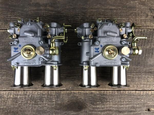 WEBER 45 DCOE 152 G 2x Doppelvergaser mit Einlauftrichter für VW OPEL ALFA Fiat