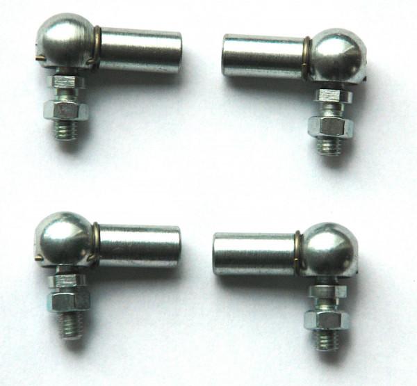 PORSCHE 356 912 Gasgestänge Set (4x) Kugelgelenk für Doppelvergaser