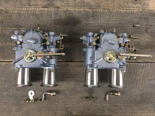 (2x) 48 DCOE Doppelvergaser Typ Weber mit Einlauftrichter BMW Fiat Alfa Romeo...