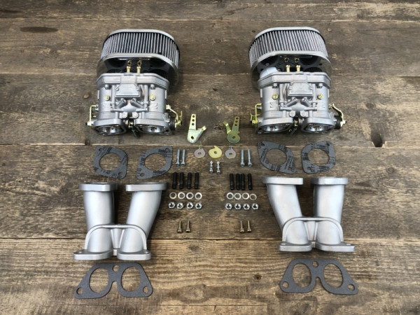 Weber 40 IDF Doppelvergaseranlage Vergaser Porsche 356 912 Ersatz für Zenith