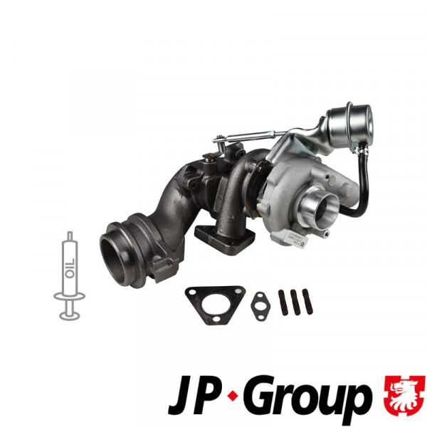 Turbolader + Dichtungssatz Lader Aufladung VW Bus T4 1.9 ABL JP Group ohne Pfand