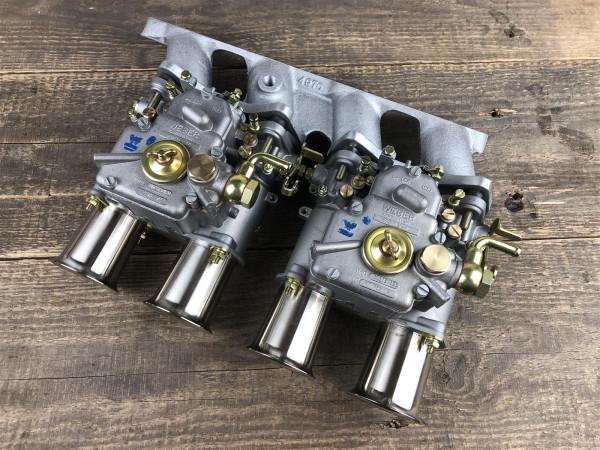 WEBER 45 DCOE Fiat 125, 131, 132 Twincam Doppelvergaseranlage Vergaser
