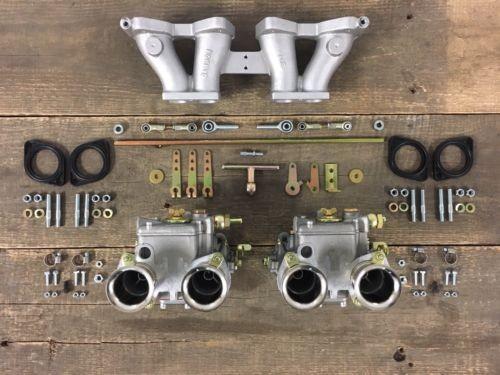 WEBER 2x 40 DCOE für Triumph Spitfire MK3, MK4 u 1500 Doppelvergaseranlage