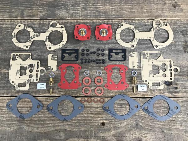 2x Dellorto 40 DHLA Vergaser ALFA 90 1.8 LOTUS Esprit CATERHAM Profi Dichtsatz Reparatursatz