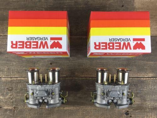 Satz (2x) 44 IDF 71 Original Weber Vergaser Doppelvergaser VW Käfer Bus Karmann